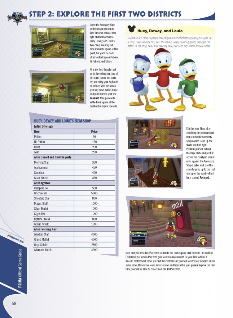 page guide officiel kingdom hearts HD Remix