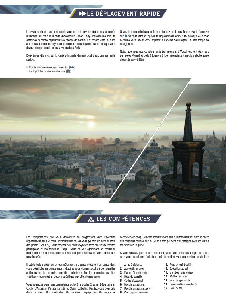 Extrait guide officiel unity